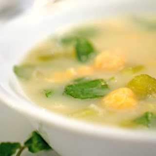 Fennel Soup with Watercress and Chickpeas