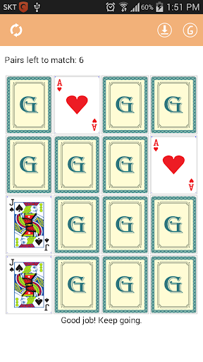 記憶卡配對遊戲