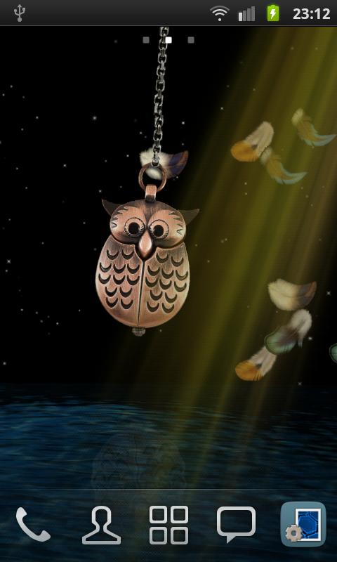 3D Owl Pendant Live Wallpaper Screenshot