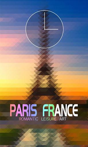 浪漫巴黎鎖屏