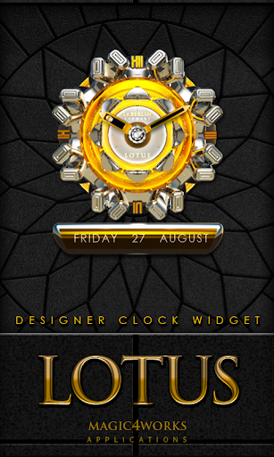 Lotus designer Clock Widget
