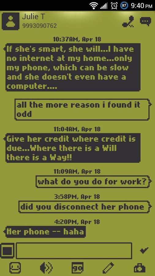 1998 Go SMS Pro Theme - screenshot