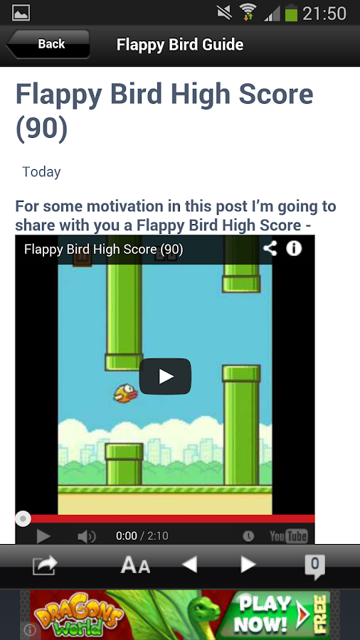 Guide for Flappy Bird - screenshot