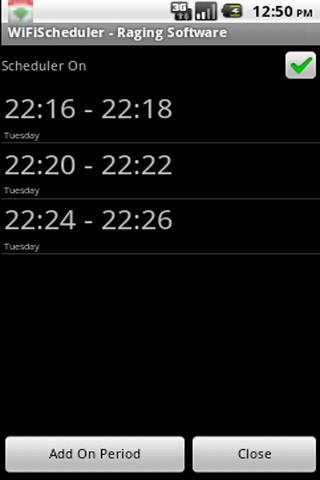 WiFi Scheduler - screenshot