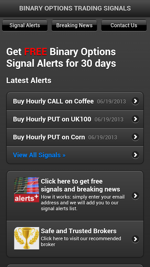 Binary Options Signals- screenshot