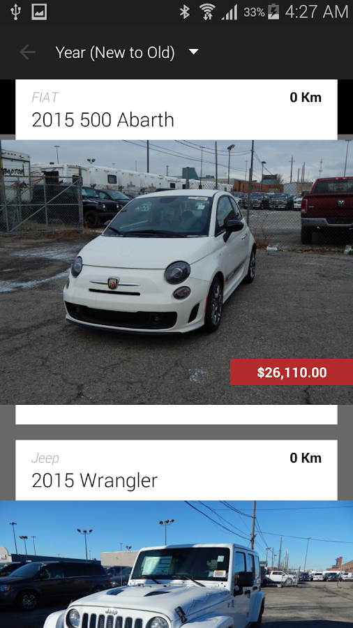 Peel Chrysler Fiat DealerApp - screenshot