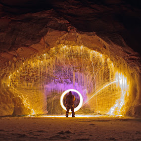 The Gateway by Jamie Rabold - Abstract Fire & Fireworks ( canon, ice caves, light painting, lit wool, steel wool, ice shot, porthole, spinning fire, sparks, spinning wool, night shot,  )