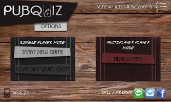 Screenshot of Pub Quiz