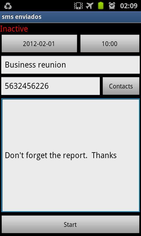 Blue Cat Sms Scheduler - screenshot