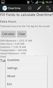 Aramco Overtime Calculator - screenshot thumbnail