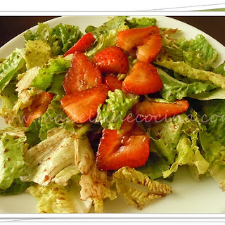 Strawberry Salad with Balsamic Vinegar.