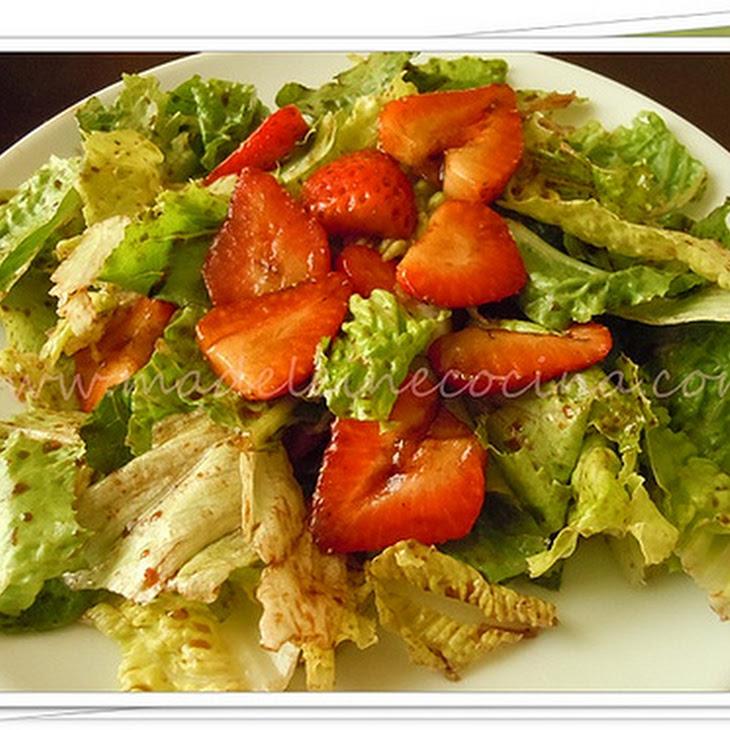 Strawberry Salad with Balsamic Vinegar Recipe