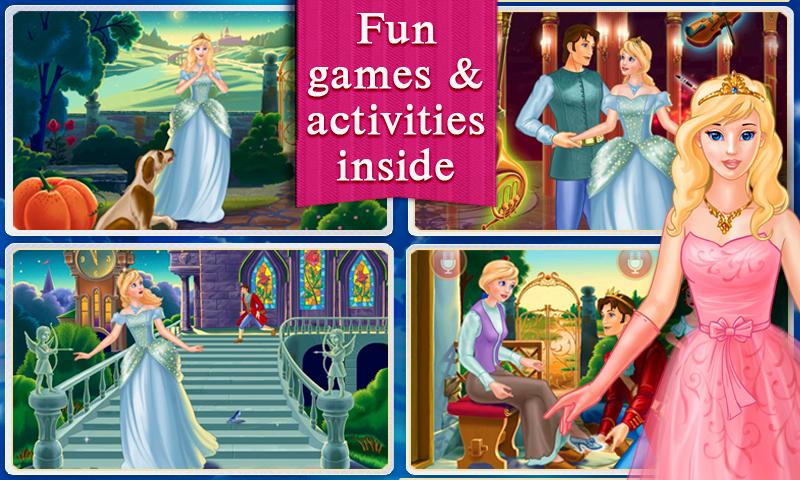 Cinderella Dress Up & Story - screenshot