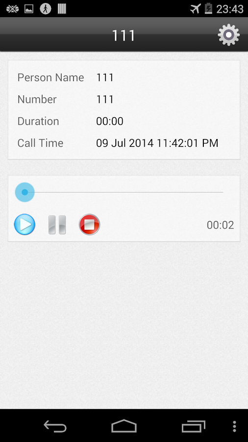 Call Recorder Automatic - screenshot