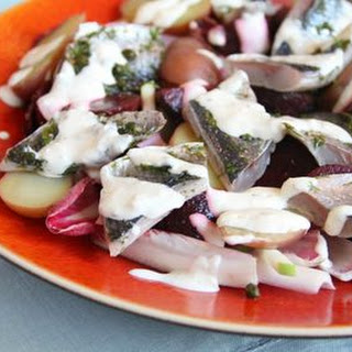 Pickled Herring with Apple and Beetroot Salad