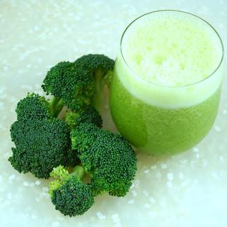 Broccoli Pear Ginger Juice.