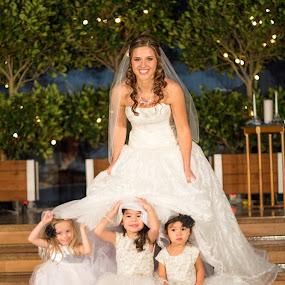 Peek a Boo by Justin Quinn - Wedding Bride ( wedding, children, bride, people )