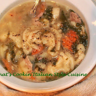 Escarole Chicken Noodle Vegetable Stoup
