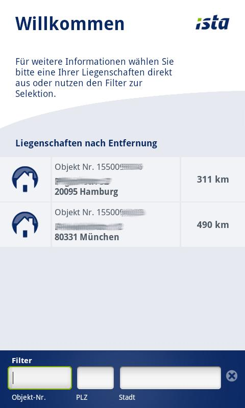 ista EDM mobil – Screenshot