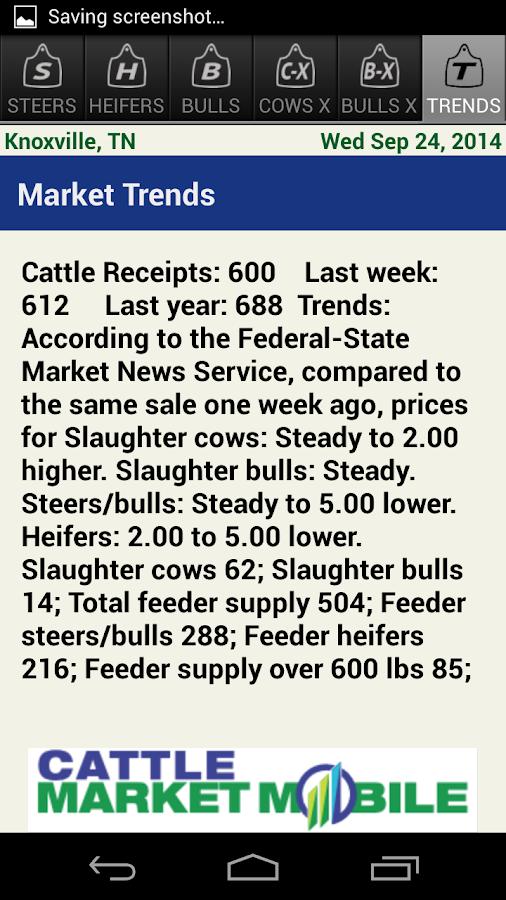 Cattle Market Mobile - screenshot