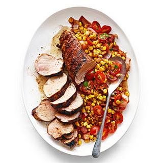Chile Pork Tenderloin with Charred Corn Salad.