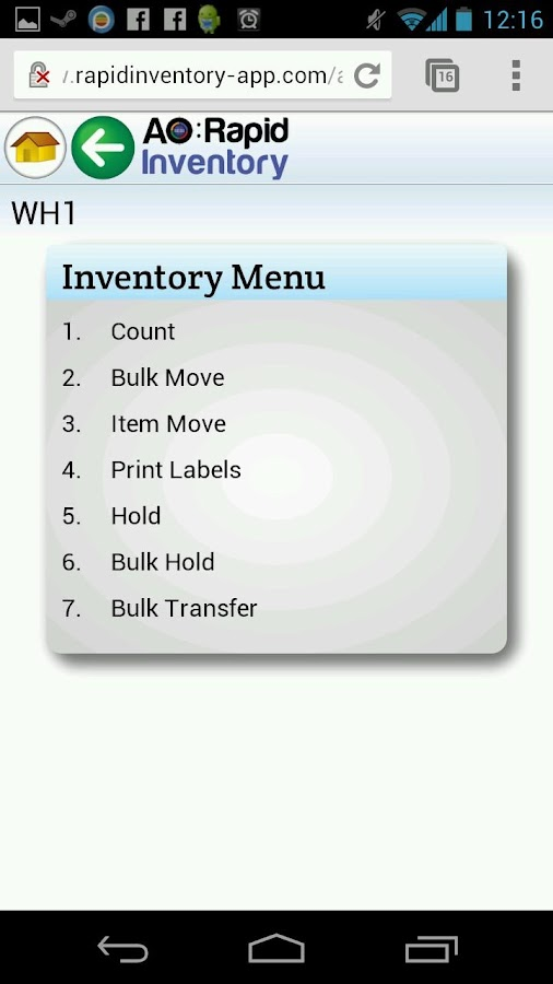 AO: Rapid Inventory- screenshot