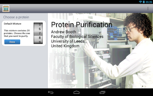 Protein Purification - Tablet- screenshot thumbnail
