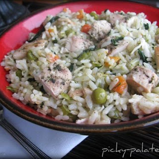 Romano Ranch Chicken and Rice Skillet Dinner.