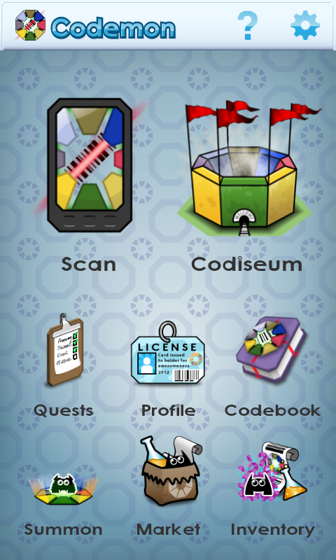 Codemon (Barcode Monsters) - screenshot