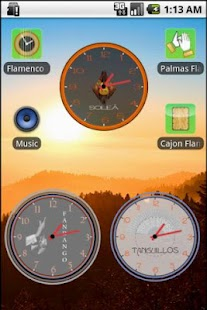 Flamenco Clock Widget - screenshot thumbnail