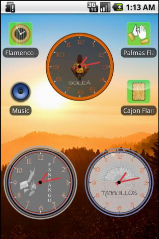 Flamenco Clock Widget- screenshot