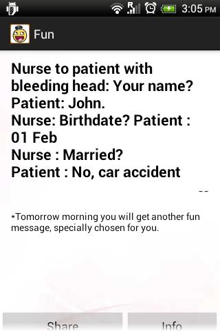 Daily happy fun joke messages