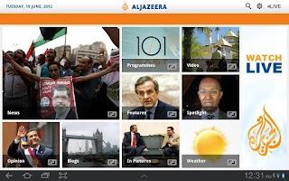 Screenshot of Al Jazeera English for Tablets