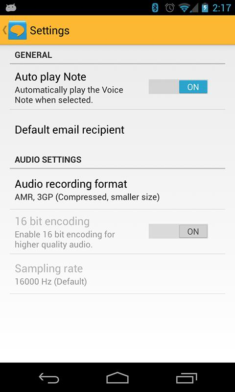 Voice Notes - screenshot