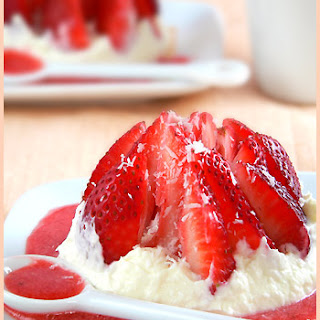 Strawberry Love Dessert and its Coconut Cream.
