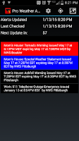 Screenshot of Pro Weather Alert