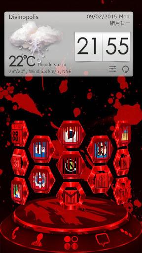 Blood Next Launcher 3D Theme