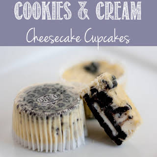 Cookies and Cream Cheesecake Cupcakes.