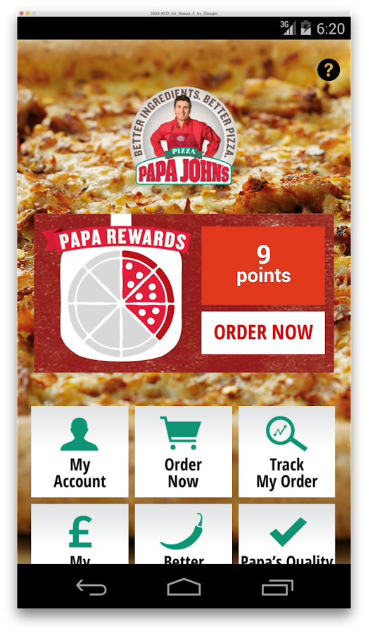 Papa John's- screenshot