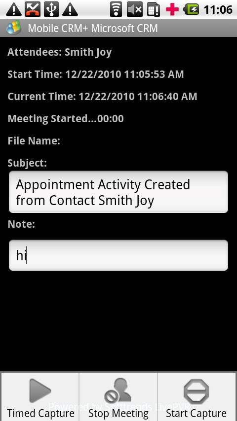 Contact Manager MS CRM - screenshot