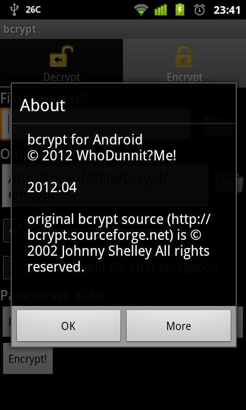 bcrypt- screenshot