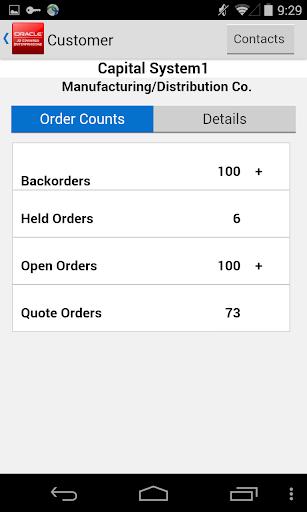 Customer Orders for JDE E1