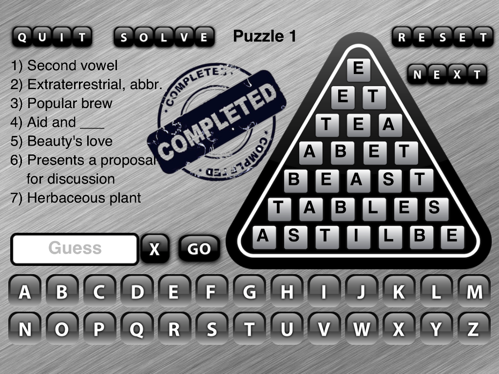 Word Triangle - screenshot