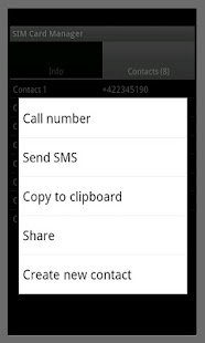 SIM Card Manager - screenshot thumbnail
