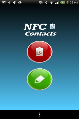 NFC Contacts - screenshot