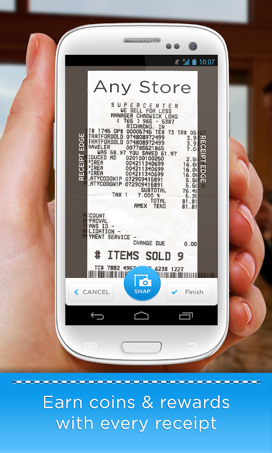 Receipt Hog - Receipts to Cash - screenshot