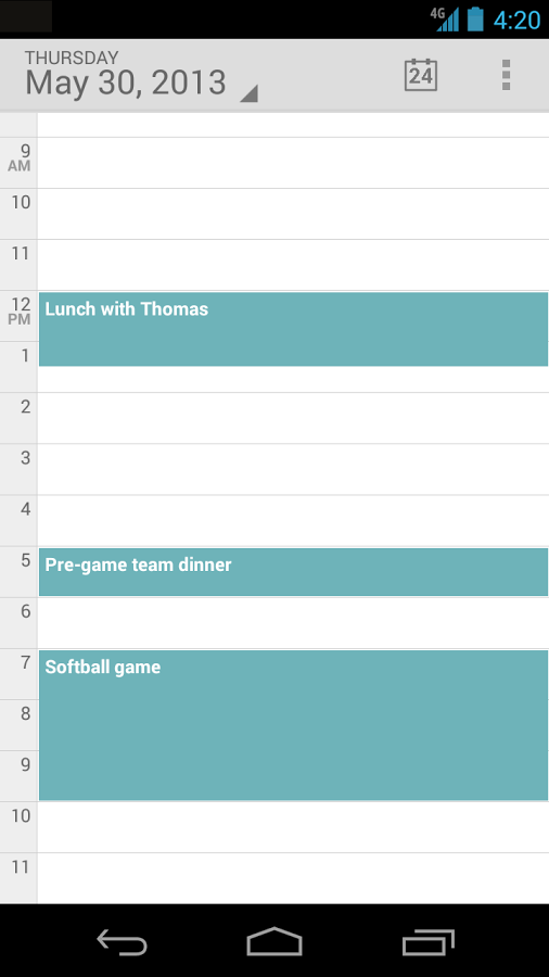 Standalone Calendar- screenshot