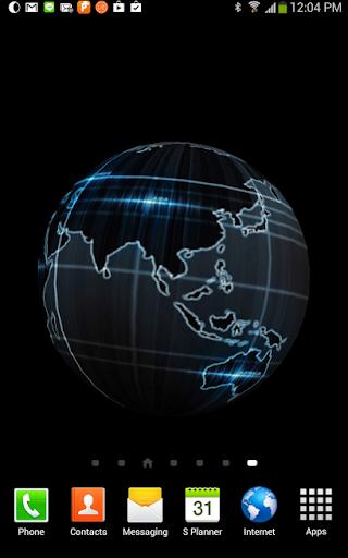 3D Black Globe Live Wallpaper