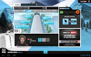 Screenshot of ESPN X Games for Tablet