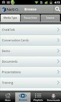 Screenshot of NetIQ in Hand